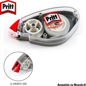 PRITT CORRETTORE A NASTRO COMPACT FLEX ROLLER - 4,2mm x 10 M | 1 BIANCHETTO O CONFEZIONE COMPLETA 3,77€