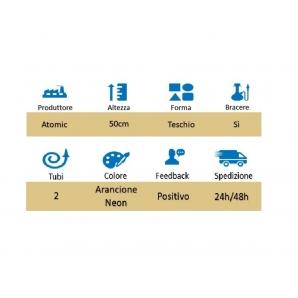 NARGHILE' DA 2 TUBI LA CATRINA NEON ARANCIONE 50CM IDEA REGALO FUMATORE - 1 PEZZO 29,99€