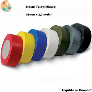 ROTOLO NASTRO TELATO EUROCELL - SCOTCH IN TELA IMPERMEABILE MISURE 38mm x 2,7 M 6,65€