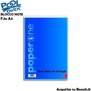 BLOCK NOTES FORMATO A4 MISURA 21 X 29cm - BLOCCO NOTE SFUSI OPPURE CONFEZIONE COMPLETA 1,57€