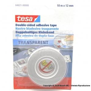 NASTRO BIADESIVO TESA - BLISTER DA 1 ROTOLO DA 12mm X 10 METRI 2,99€