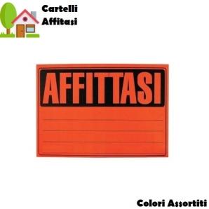 CARTELLI AFFITTASI MISURA 33X23cm - SFUSI O CONFEZIONE COMPLETA DA 25 0,99€