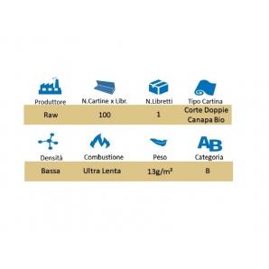 RAW CARTINE HEMP CORTE DOPPIE CANAPA BIOLOGICA - 1 LIBRETTO DA 100 CARTINE 0,79€