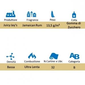 CARTINE CORTE JUICY JAY'S 1¼ AROMA JAMAICAN RUM - LIBRETTO SINGOLO 1,59€