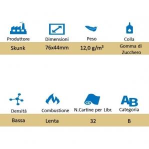CARTINE CORTE SKUNKALICIOUS SINGOLE 1¼ - LIBRETTO SINGOLO 1,49€