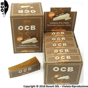 FILTRI IN CARTA OCB EASY VIRGIN BROWN - BOX DA 25 BLOCCHETTI DA 50 FILTRI 13,82 €