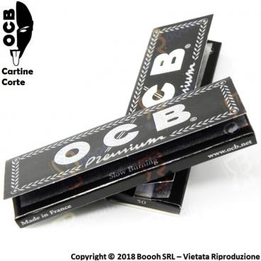 OCB CARTINE CORTE SINGOLE NERE PREMIUM - 1 LIBRETTO DA 50 CARTINE
