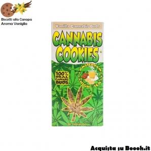 CANNABIS COOKIES DR GREENLOVE - AROMA VANIGLIA - CONFEZIONE DA 4 BISCOTTI CON GOCCE DI CIOCCOLATO 4,99€