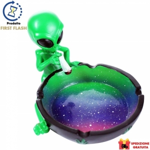 POSACENERE IN CERAMICA ALIENO CON CANNA IDEA REGALO FUMATORE - HIGH ALIEN ASHTRAY | SPEDIZIONE GRATUITA 26,65 €