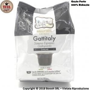 CAFFE' GATTOPARDO MISCELA QUALITA DAKAR - CAPSULE GATTITALY COMPATIBILI CON I SISTEMI E MACCHINE CAFFITALY | CONFEZIONE DA 16...