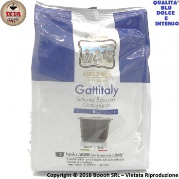 CAFFE' GATTOPARDO MISCELA BLU - CAPSULE GATTITALY COMPATIBILI CON I SISTEMI E MACCHINE CAFFITALY | CONFEZIONE DA 16 PZ