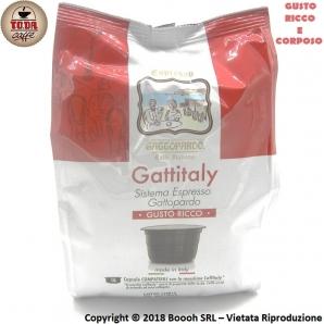 CAFFE' GATTOPARDO QUALITA' GUSTO RICCO - CAPSULE GATTITALY COMPATIBILI CON I SISTEMI E MACCHINE CAFFITALY | CONFEZIONE DA 16 ...