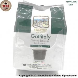 CAFFE' GATTOPARDO QUALITA' DEK DECAFFEINATO - CAPSULE GATTITALY COMPATIBILI CON MACCHINE CAFFITALY | CONFEZIONE DA 16 PZ 4,29€