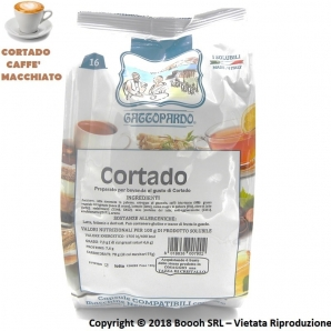 CAPSULE GATTOPARDO CORTADO CAFFE' MACCHIATO - COMPATIBILI SISTEMI NESCAFE' DOLCE GUSTO | CONF. DA 16PZ 5,21€