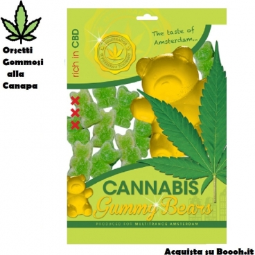 ORSETTI GOMMOSI CARAMELLE ALLA CANAPA/CANNABIS (NO THC)