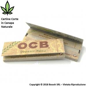 CARTINE CORTE OCB ORGANIC HEMP CANAPA BIOLOGICA - LIBRETTO SINGOLO 0,35€
