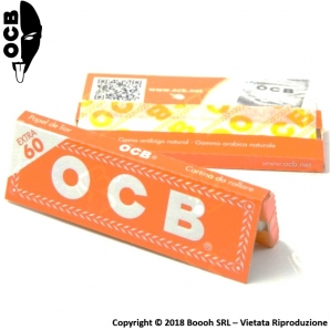 OCB CARTINE CORTE SINGOLE ORANGE - 1 LIBRETTO DA 60 CARTINE 0,23 €