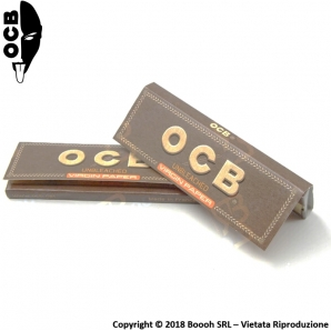 CARTINE OCB VIRGIN BROWN SENZA CLORO CORTE SINGOLE - LIBRETTO SINGOLO 0,35 €