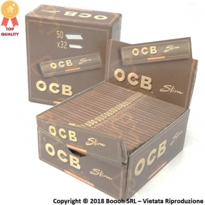 OCB CARTINE KS SLIM VIRGIN BROWN - BOX DA 50 LIBRETTI PER 32 CARTINE 42,79 €