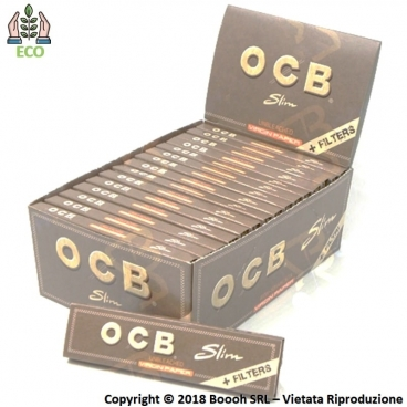 OCB CARTINE KS SLIM VIRGIN BROWN + FILTRI IN CARTA - CONFEZIONE DA 32 LIBRETTI PER 32 CARTINE