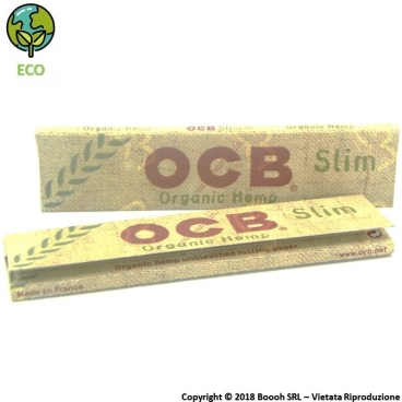 CARTINE OCB ORGANIC HEMP KING SIZE SLIM IN CANAPA BIOLOGICA LUNGHE - LIBRETTO