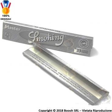 SMOKING CARTINE MASTER SLIM KING SIZE LUNGHE GRIGIE - 1 LIBRETTO DA 33 CARTINE