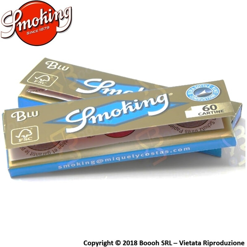 CARTINE SMOKING BLU CORTE SINGOLE REGULAR SIZE - LIBRETTO SINGOLO 0,32 €