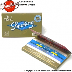 SMOKING CARTINE GOLD DOPPIE CORTE ORO - 1 LIBRETTO DA 120 CARTINE 0,69 €