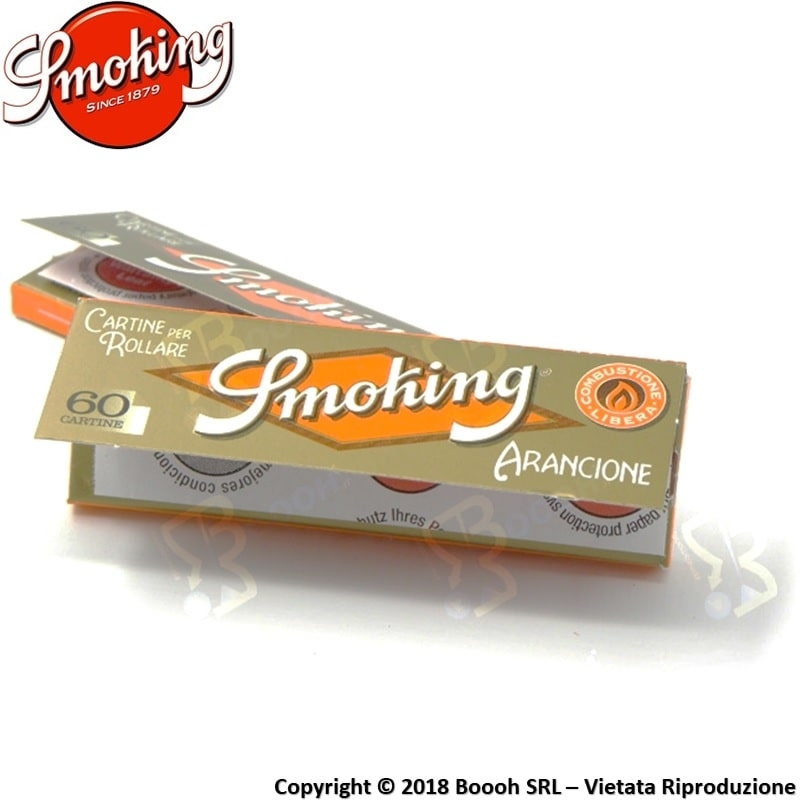 SMOKING CARTINE ORANGE CORTE SINGOLE ARANCIONI - LIBRETTO DA 60 CARTINE 0,29 €