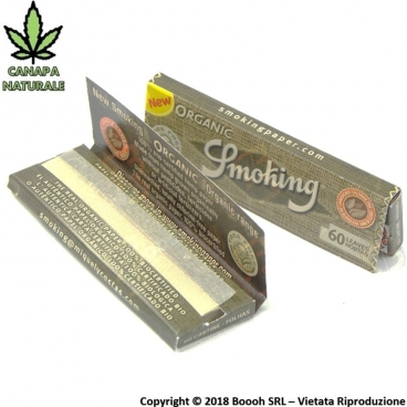 SMOKING CARTINE ORGANIC CORTE SINGOLE - 1 LIBRETTO DA 60 CARTINE