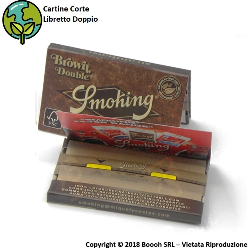 SMOKING CARTINE DOPPIE CORTE BROWN DOUBLE - 1 LIBRETTO DA 120 CARTINE 0,69 €