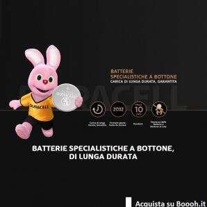 BATTERIE SPECIALISTICHE A BOTTONE DURACELL DL CR 2016 LITHIUM 3V - BLISTER DA 2 PILE 2,49€