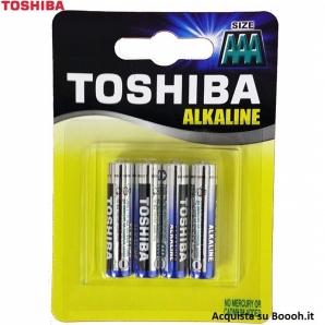 BATTERIE TOSHIBA ALCALINE MINI STILO AAA MODELLO LR03 - BLISTER DA 4 PZ 2,52€