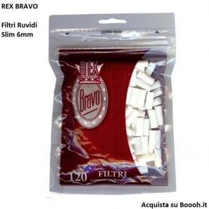 REX BRAVO FILTRI SLIM 6MM - 1 BUSTINA DA 120 FILTRI 0,59€