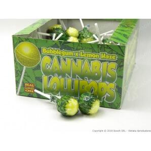 LOLLIPOPS GUSTO LIMONATA CON AROMA CANNABIS (NO THC) - 5 LOLLIPOPS 3,25€