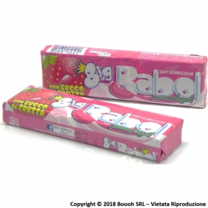 BIG BABOL CHEWING GUM BUBBLE GUM AROMA PANNA FRAGOLA - STICK SFUSI 0,89 €