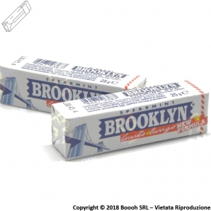 GOMME DA MASTICARE BROOKLYN SPEARMINT CHEWING GUM - STICK SFUSI 0,89 €