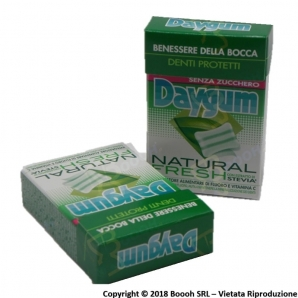 DAYGUM NATURAL FRESH CHEWING GUM - ASTUCCI SFUSI 1,69 €