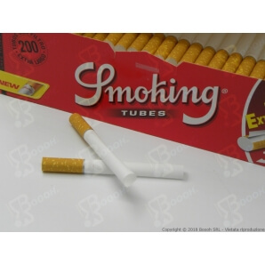 SMOKING TUBETTI VUOTI EXTRA LUNGHI - CONFEZIONE DA 200 SIGARETTE VUOTE 1,89€