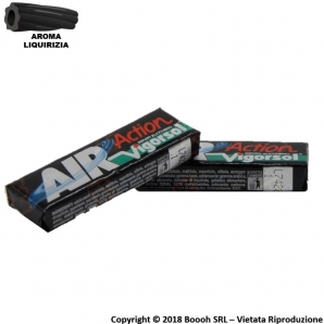 GOMME DA MASTICARE VIGORSOL AIR ACTION BLACK ICE LIQUIRIZIA CHEWING GUM - 2 STICK O CONFEZIONE COMPLETA 0,99 €