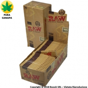 RAW CLASSIC CARTINE CORTE SINGOLE REGULAR SINGLE WIDE - BOX DA 50 LIBRETTI DA 50 CARTINE 22,19 €