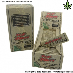 POP FILTERS CARTINE CORTE SINGOLE ORGANIC HEMP REGULAR - BOX DA 50 LIBRETTI 33,69 €