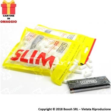 CLIPPER FILTRI SPUGNA LISCI SLIM 6MM - 1 BUSTINA DA 120 FILTRI + 50 CARTINE SILVER OMAGGIO