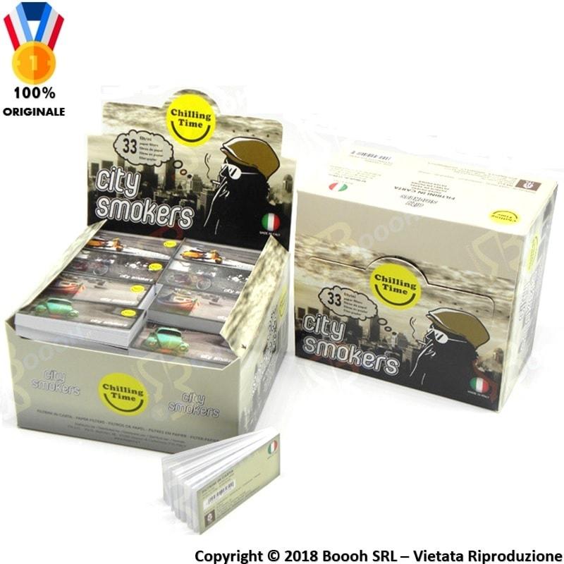 FILTRI IN CARTA MAD4 CITY SMOKERS - BOX DA 80 BLOCCHETTI 33,99€