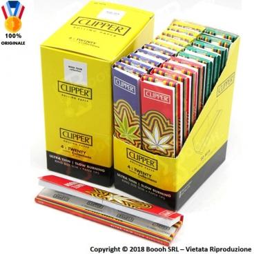CLIPPER CARTINE LUNGHE KSS + FILTRI IN CARTA SIMPLE WEED TEAM KSS - BOX DA 20 LIBRETTI