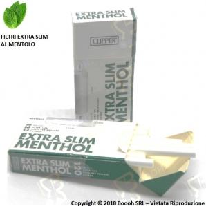 FILTRI CLIPPER RUVIDI 5,5MM EXTRA SLIM AL MENTOLO - 1 ASTUCCIO DA 120 FILTRI 0,98€