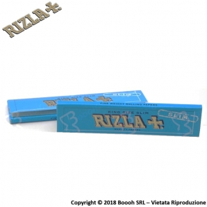 RIZLA CARTINE BLU LUNGHE KING SIZE SLIM - 1 LIBRETTO DA 32 CARTINE 0,59 €