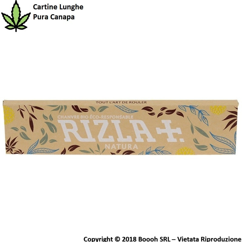 RIZLA CARTINE NATURA LUNGHE IN CANAPA KS SLIM - 1 LIBRETTO DA 32 CARTINE 0,79 €