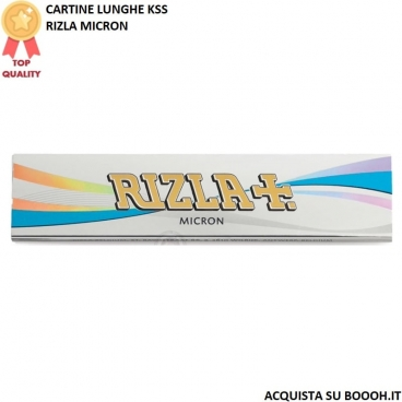 RIZLA CARTINE MICRON LUNGHE KING SIZE SLIM - 1 LIBRETTO DA 32 CARTINE