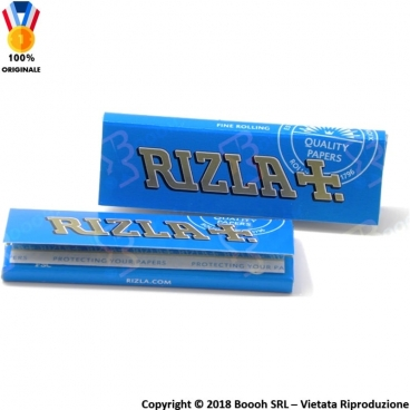 RIZLA CARTINA BLU CORTA SINGOLA REGULAR - 1 LIBRETTO DA 50 CARTINE
